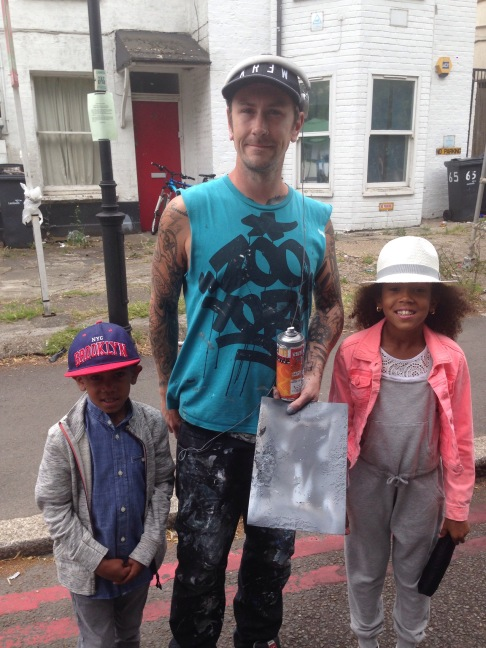 """My kids with the """"FLY"""" artist"""