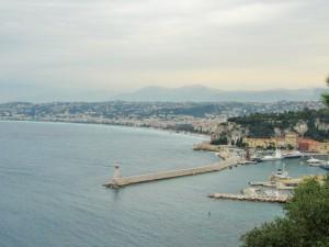Overcast view of Nice