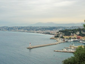 Overcast view of Nice