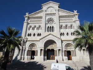 The church where Prince Renier and Princess Grace Kelly were married